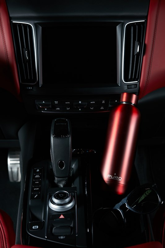 puro hot&cold thermal stainless steel water bottle 500ml (metallic red) - export 2210