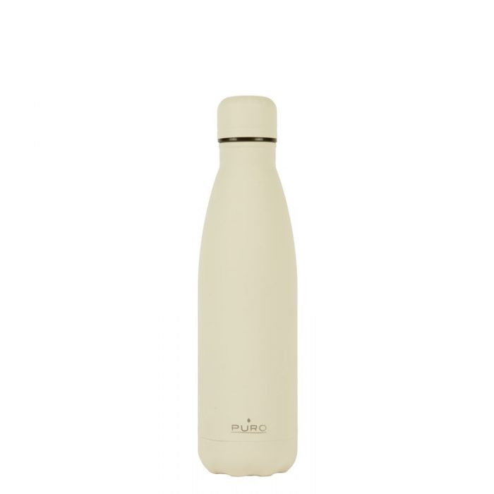 puro icon thermal stainless steel water bottle 500ml (beige) (powder coating) - export 2212