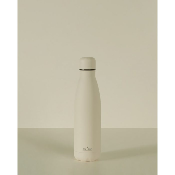 puro icon thermal stainless steel water bottle 500ml (beige) (powder coating) - export 2213