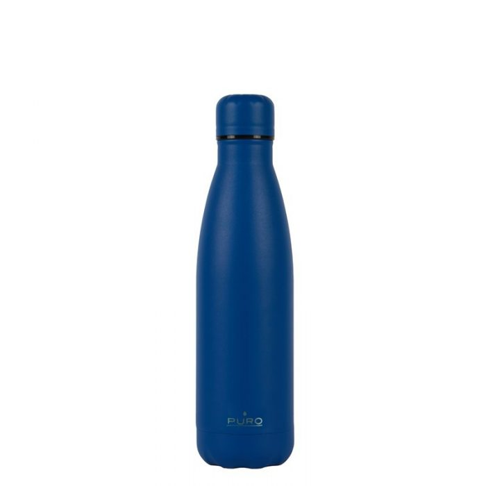 puro icon thermal stainless steel water bottle 500ml (dark blue) (powder coating) - export 2220