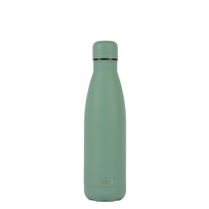 puro icon thermal stainless steel water bottle 500ml (green) (powder coating) - export 2226