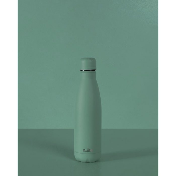 puro icon thermal stainless steel water bottle 500ml (green) (powder coating) - export 2227