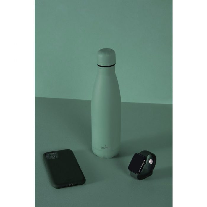 puro icon thermal stainless steel water bottle 500ml (green) (powder coating) - export 2228
