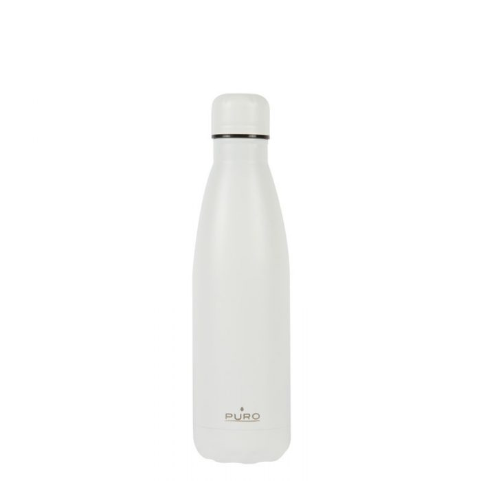 puro icon thermal stainless steel water bottle 500ml (white) (powder coating) - export 2239