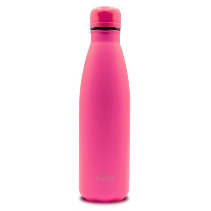 puro icon fluo thermal stainless steel water bottle 500ml (fucsia) (powder coating) - export 2256