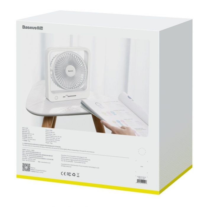 baseus cube portable fan (white) - export 2415