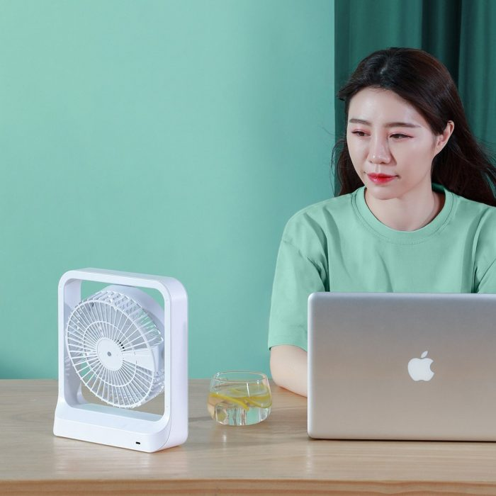 baseus cube portable fan (white) - export 2417