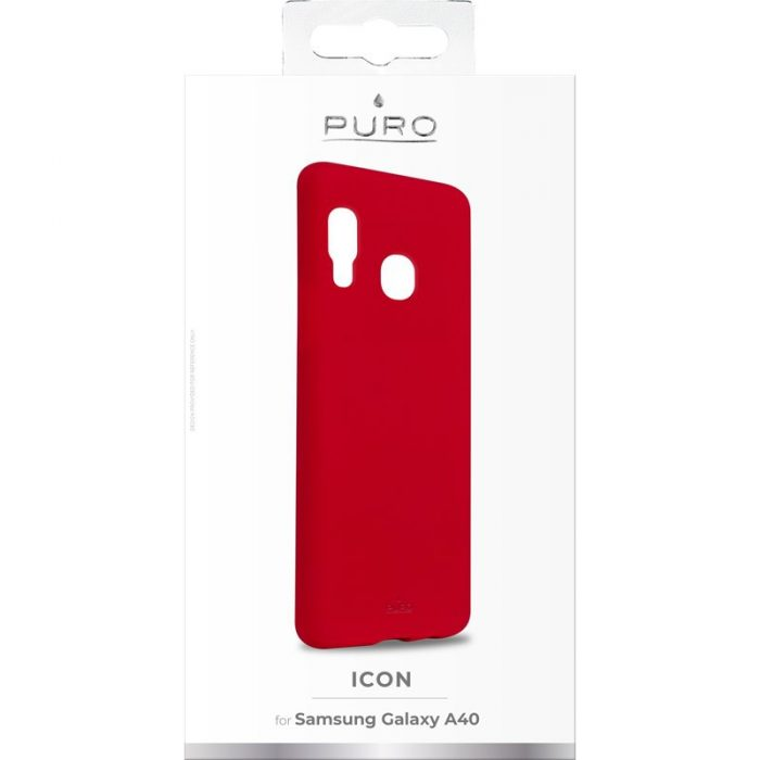 puro icon cover samsung galaxy a40 (red) - export 2446
