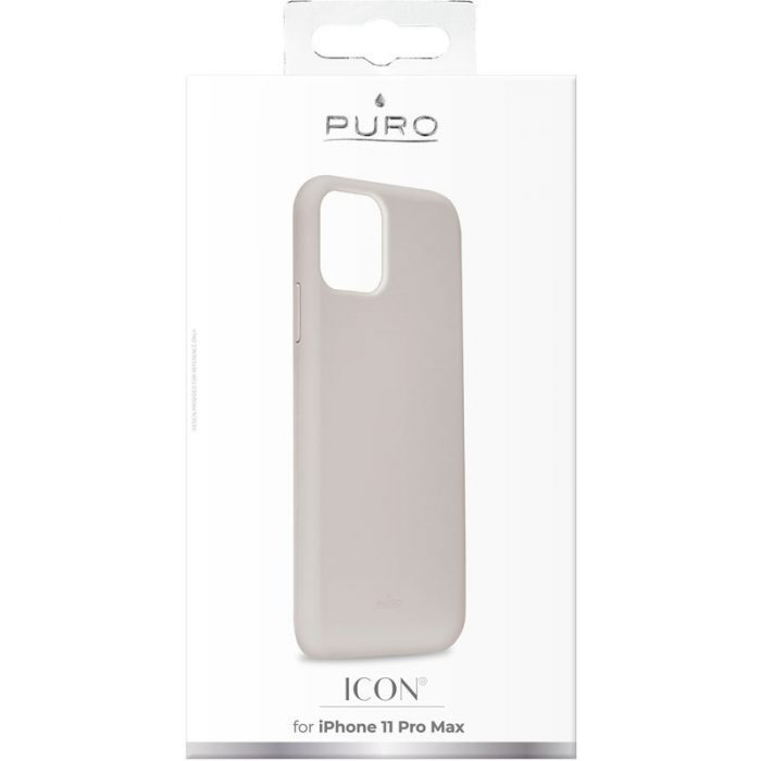 puro icon cover apple iphone 11 pro max (taupe) - export 2555