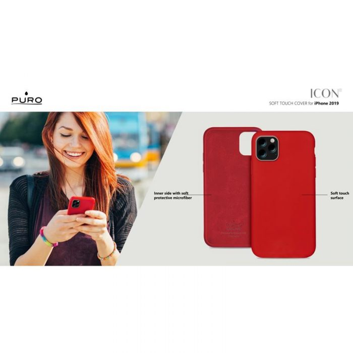puro icon cover apple iphone 11 pro (red) - export 2850
