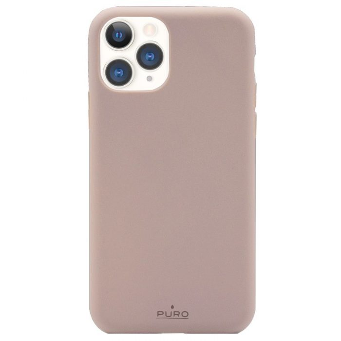 puro green compostable eco-friendly cover apple iphone 11 pro (sand pink) - export 3111