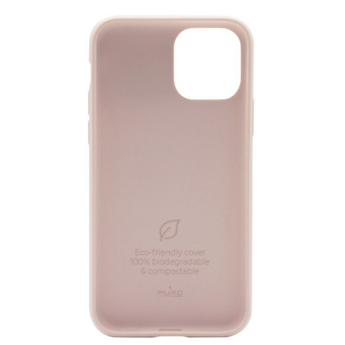 puro green compostable eco-friendly cover apple iphone 11 pro (sand pink) - export 3112