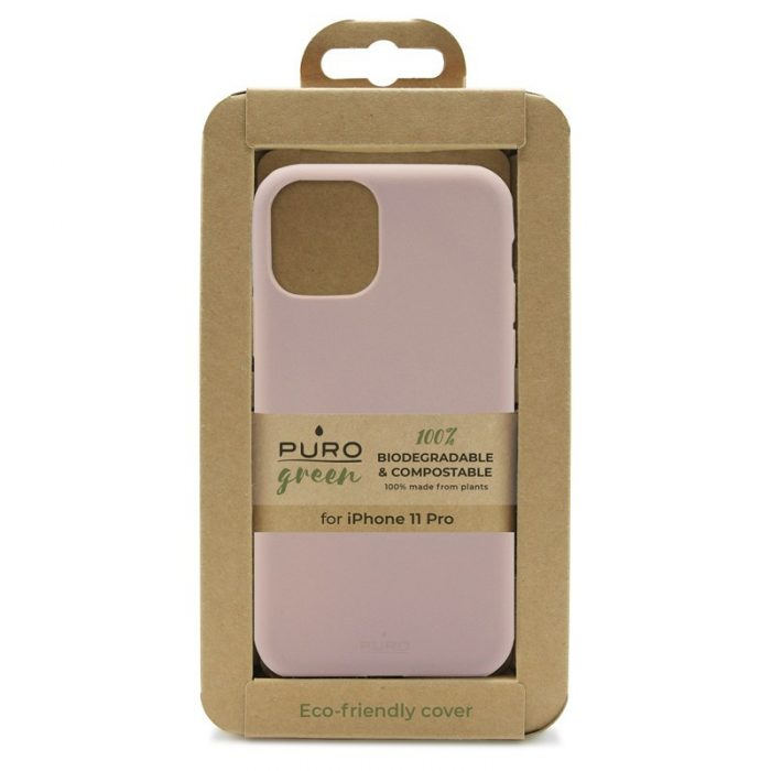 puro green compostable eco-friendly cover apple iphone 11 pro (sand pink) - export 3113