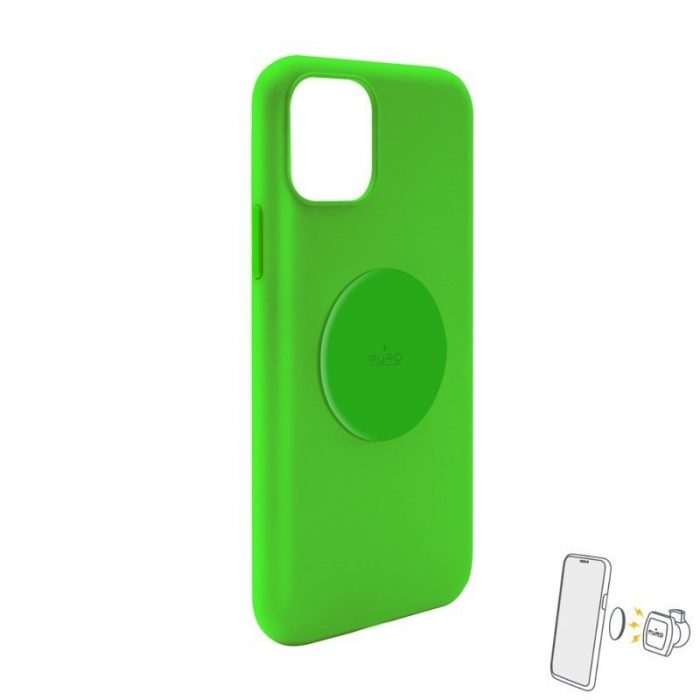 puro icon+ cover apple iphone 11 (fluo green) - export 3388