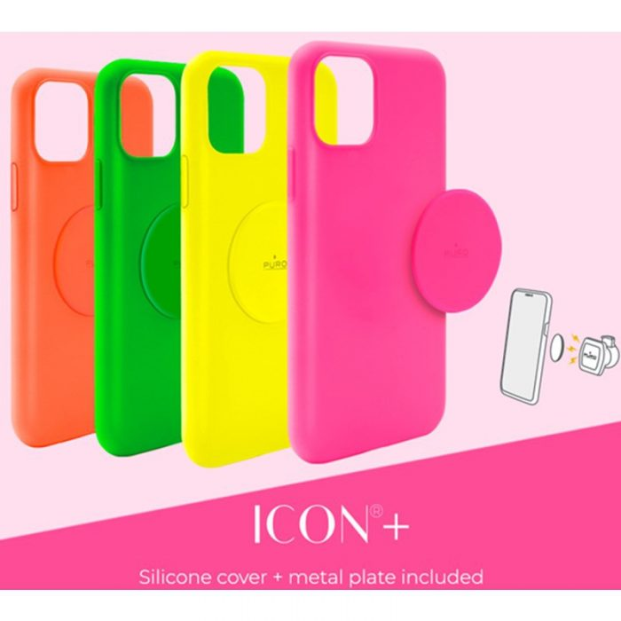 puro icon+ cover apple iphone 11 (fluo green) - export 3391
