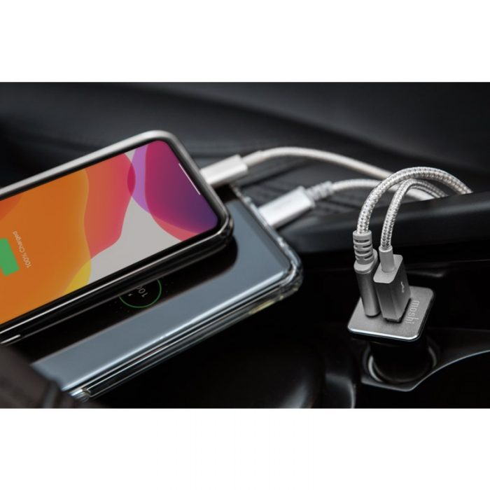 quikduo car charger with usb-c pd and quick charge (36 w) - export 3469