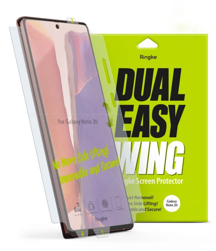 ringke dual easy wing full cover samsung galaxy note 20 [2 pack] - export 4273