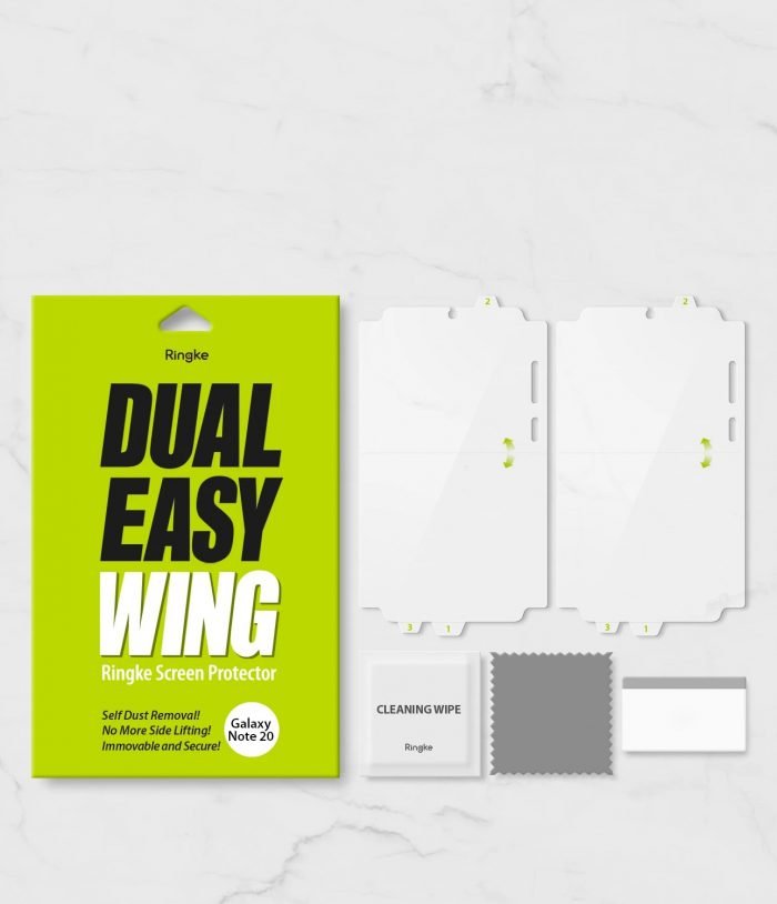 ringke dual easy wing full cover samsung galaxy note 20 [2 pack] - export 4282