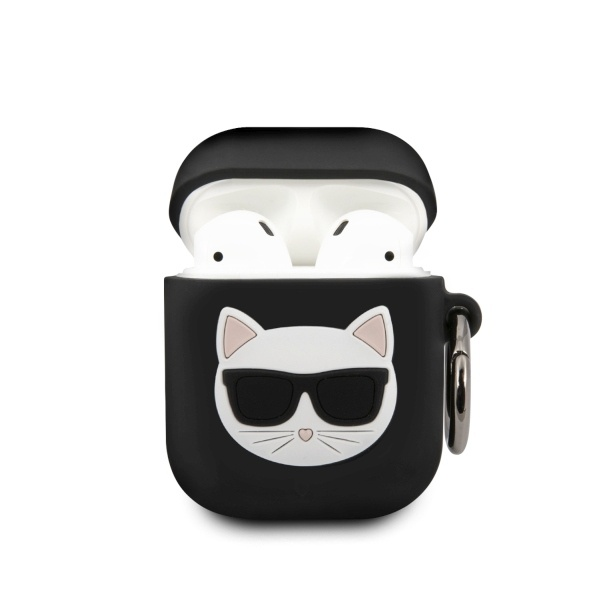 karl lagerfeld klaca2silchbk apple airpods cover black silicone choupette - export 4381