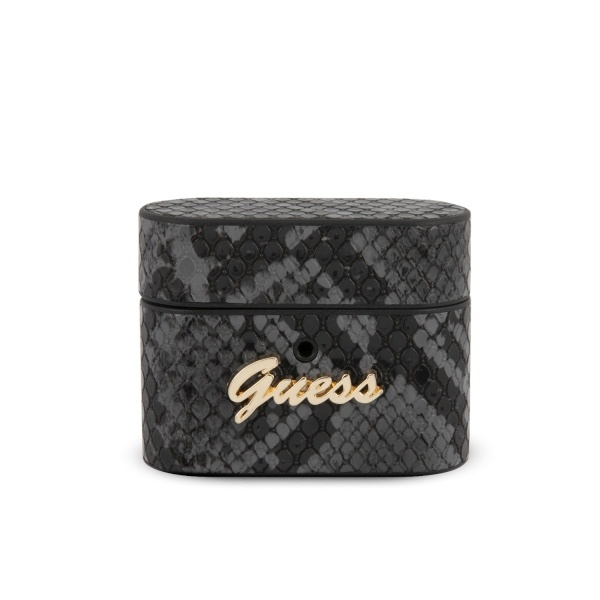 guess guacappusnsmlbk airpods pro cover black python collection - export 4383