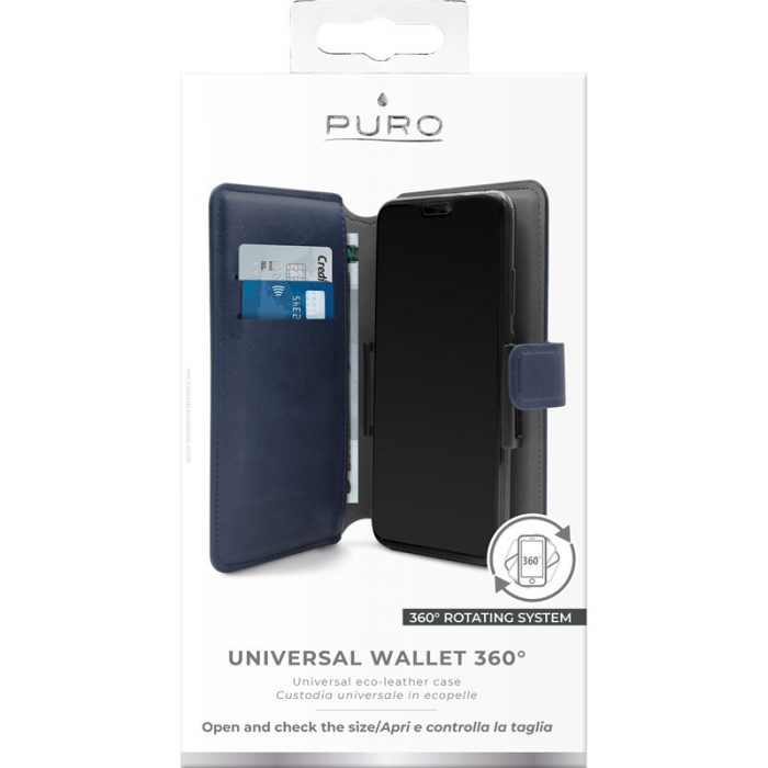puro universal wallet case 360° xl (navy) - export 4435