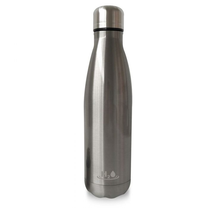 puro h2o thermal stainless steel water bottle 500ml (silver) - export 4481