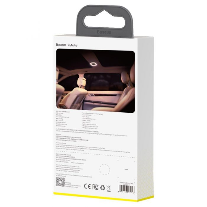 baseus bright car light for reading (black) - krytaren.sk baseus bright car light for reading black others 6