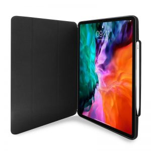 2020) - PURO Zeta Pro Apple iPad Air 4 10.9 (2020) / iPad Pro 11 (2020 / 2018) w/Magnet & Stand up + Apple Pencil holder (black) - 1 - krytaren.sk