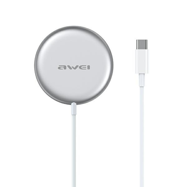 wireless chargers - awei w10 magsafe wireless charger 15w white - 1 - krytaren.sk