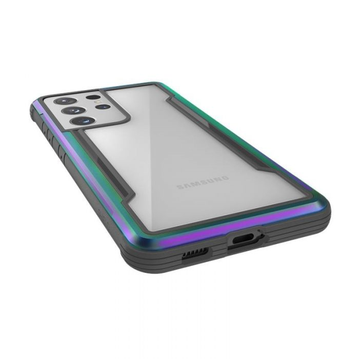 s21 ultra - x-doria raptic shield aluminum case samsung galaxy s21 ultra (antimicrobial protection) (iridescent) - 5 - krytaren.sk