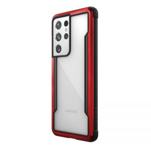 S21 Ultra - X-Doria Raptic Shield Aluminum Case Samsung Galaxy S21 Ultra (Antimicrobial protection) (Red) - 1 - krytaren.sk