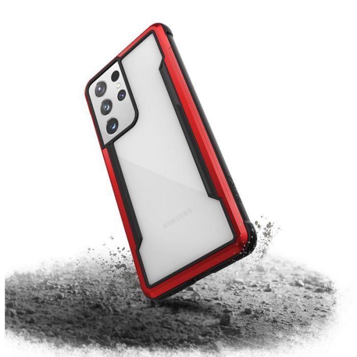 s21 ultra - x-doria raptic shield aluminum case samsung galaxy s21 ultra (antimicrobial protection) (red) - 4 - krytaren.sk