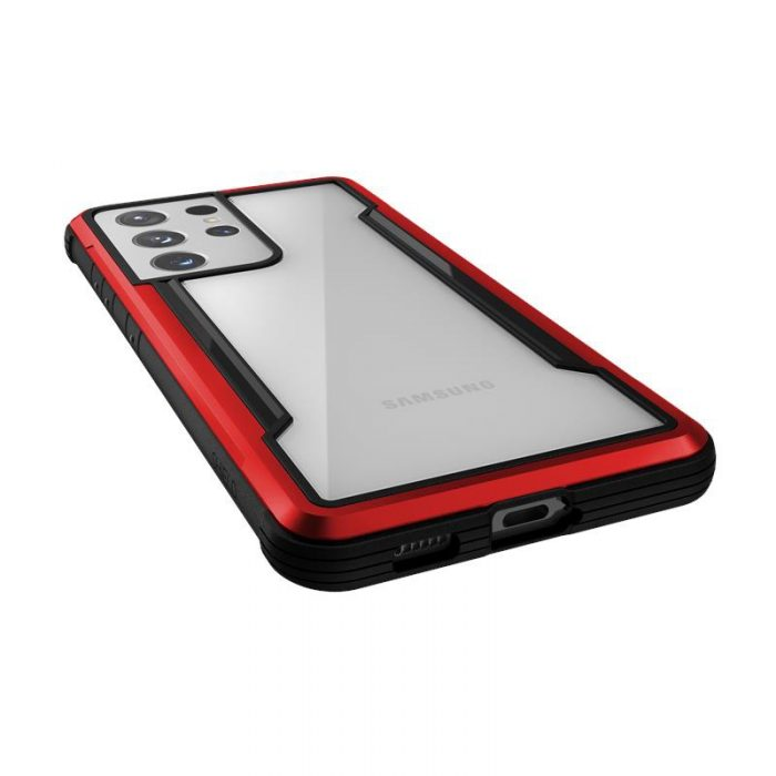 s21 ultra - x-doria raptic shield aluminum case samsung galaxy s21 ultra (antimicrobial protection) (red) - 5 - krytaren.sk