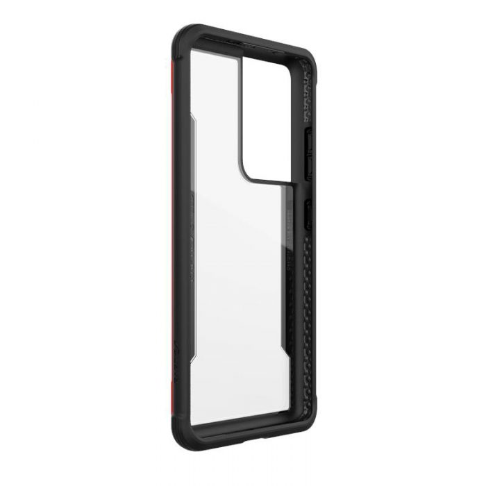 s21 ultra - x-doria raptic shield aluminum case samsung galaxy s21 ultra (antimicrobial protection) (red) - 6 - krytaren.sk