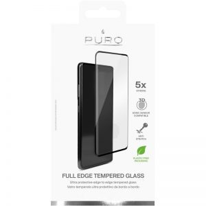 S21 Ultra - PURO Premium Full Edge Tempered Glass Case Friendly Samsung Galaxy S21 Ultra (black) - 2 - krytaren.sk
