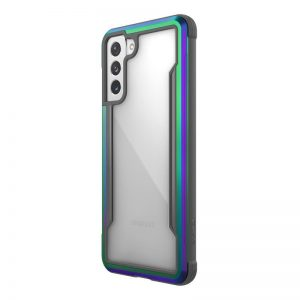 S21 Plus - X-Doria Raptic Shield Aluminum Case Samsung Galaxy S21+ Plus (Antimicrobial protection) (Iridescent) - 1 - krytaren.sk