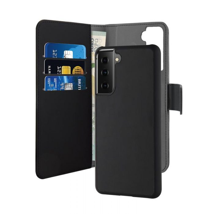 s21 plus - puro wallet detachable 2in1 samsung galaxy s21+ plus (black) - 1 - krytaren.sk