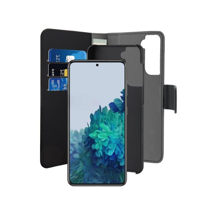 s21 plus - puro wallet detachable 2in1 samsung galaxy s21+ plus (black) - 2 - krytaren.sk