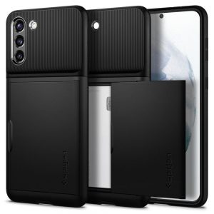 S21 Plus - Spigen Slim Armor Cs Galaxy S21+ Plus Black - 1 - krytaren.sk