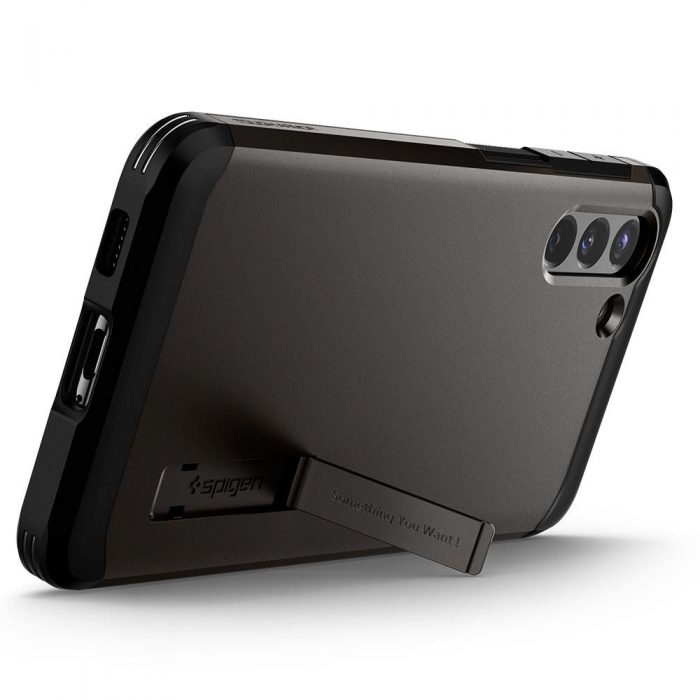 s21 plus - spigen tough armor galaxy s21+ plus gunmetal - 8 - krytaren.sk