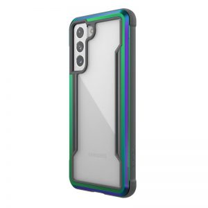 S21 - X-Doria Raptic Shield Aluminum Case Samsung Galaxy S21 (Antimicrobial protection) (Iridescent) - 1 - krytaren.sk