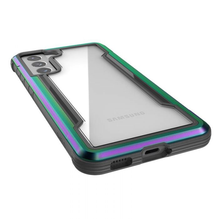 s21 - x-doria raptic shield aluminum case samsung galaxy s21 (antimicrobial protection) (iridescent) - 5 - krytaren.sk