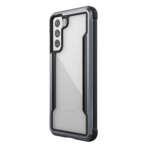 S21 - X-Doria Raptic Shield Aluminum Case Samsung Galaxy S21 (Antimicrobial protection) (Black) - 1 - krytaren.sk