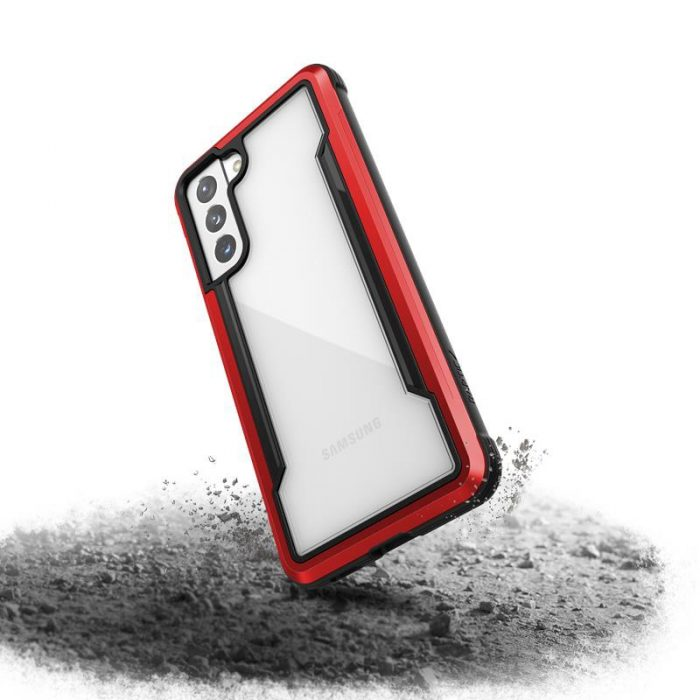 s21 - x-doria raptic shield aluminum case samsung galaxy s21 (antimicrobial protection) (red) - 4 - krytaren.sk