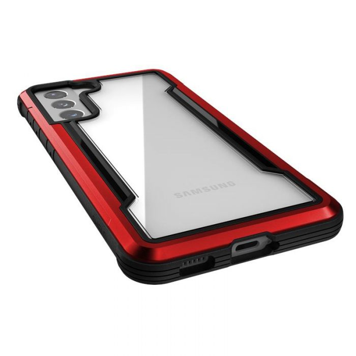 s21 - x-doria raptic shield aluminum case samsung galaxy s21 (antimicrobial protection) (red) - 5 - krytaren.sk
