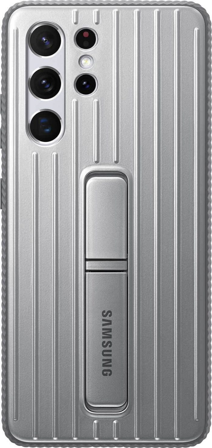 s21 ultra - samsung galaxy s21 ultra ef-rg998cj light gray protective standing cover - 1 - krytaren.sk