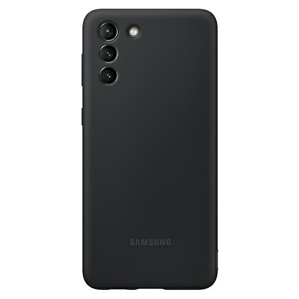 s21 plus - samsung galaxy s21+ plus ef-pg996tb black silicone cover - 1 - krytaren.sk