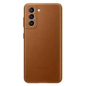 S21 Plus - Samsung Galaxy S21+ Plus EF-VG996LA brown Leather Cover - 1 - krytaren.sk