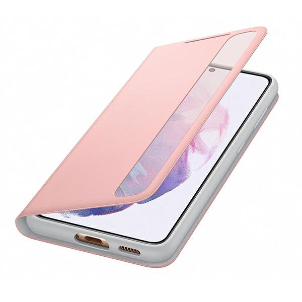 s21 plus - samsung galaxy s21+ plus ef-zg996cp pink clear view cover - 5 - krytaren.sk