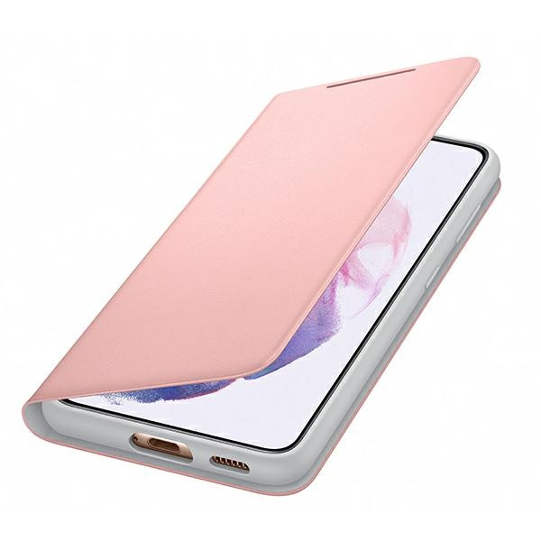 s21 - samsung galaxy s21 ef-ng991pp pink led view cover - 4 - krytaren.sk